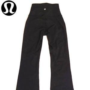 Lululemon Throw Back Pant Black High Rise Flared 2